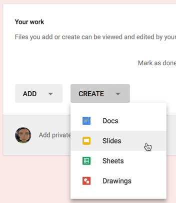 Create blank google slides