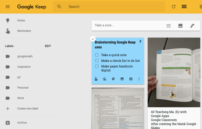 Google Keep is awesome