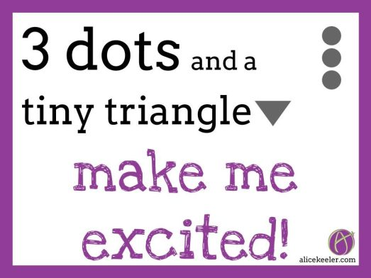 3 dots and a tiny triangle version B