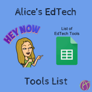 Alice's list of edtech tools