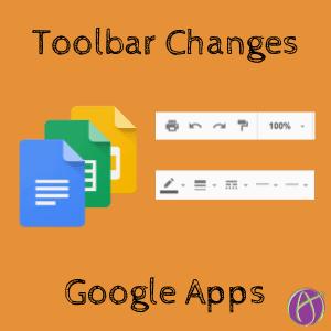 Google Apps: New Toolbar Icons - Teacher Tech
