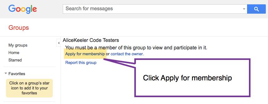 Apply for membership