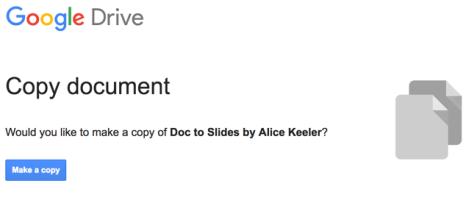 Make a copy of Doc to Slides