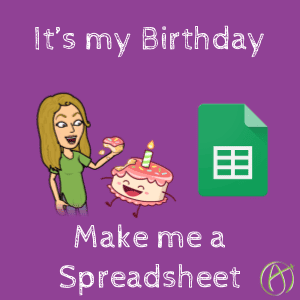 alice keeler birthday spreadsheet