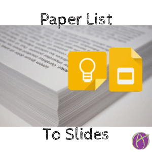 paper list to slides