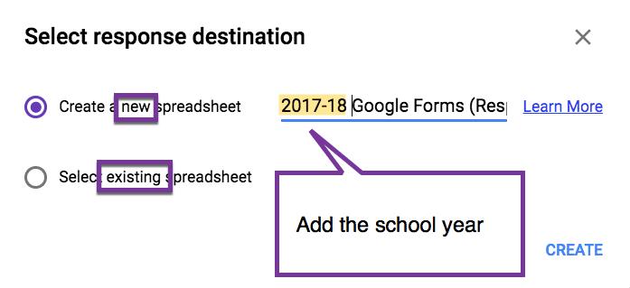 Create A New Spreadsheet