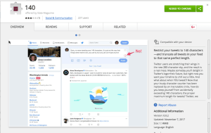 140 Chrome extension
