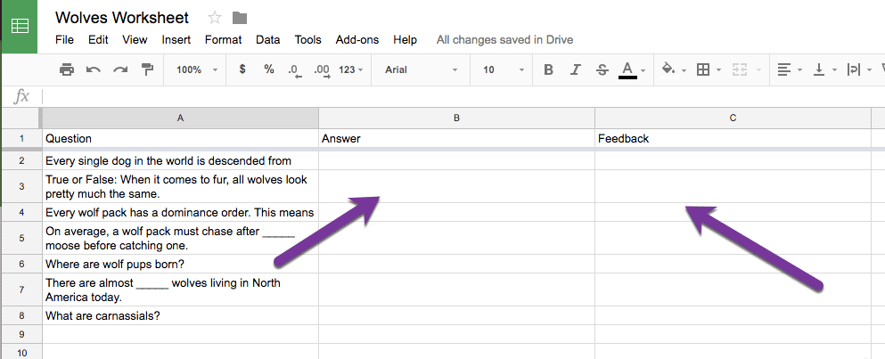 Make a worksheet into a spreadsheet
