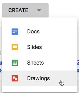 create a google drawing in Google Classroom