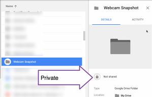 webcam snapshot folder in drive