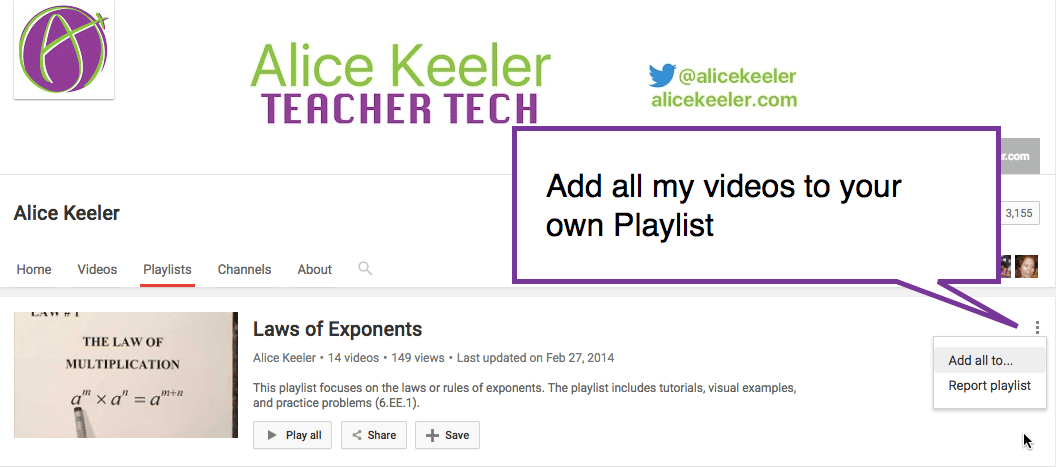 Add videos to your playlist