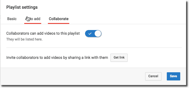 collaborate in YouTube playlist