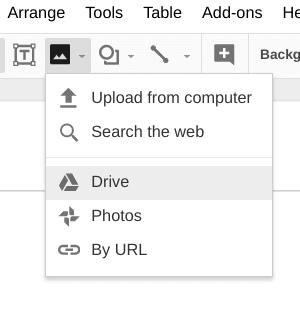 Tiny Triangle next to image icon