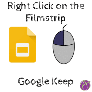 right click on the filmstrip