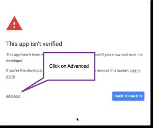 Click on advanced
