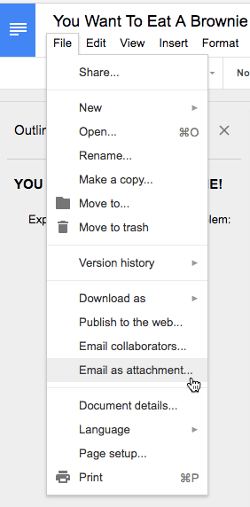 File email as attachment