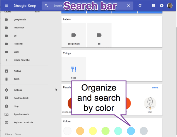 Organize and Search by Color