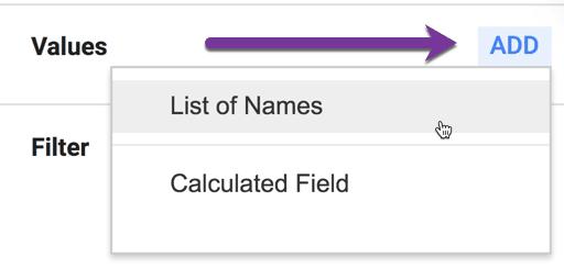 add column list of names