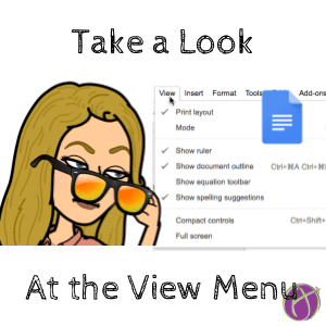 Take a look at the view menu