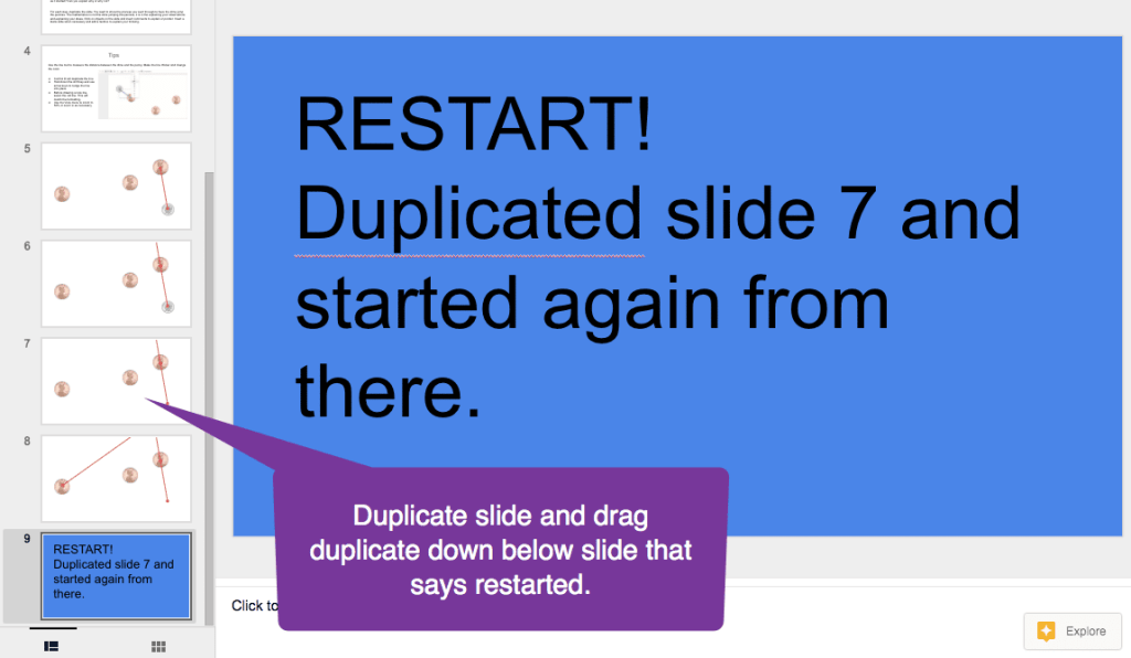 Duplicated slide alert