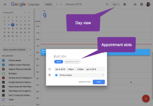 day view appointment slots