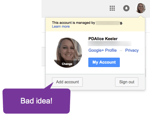 Add account to g suite