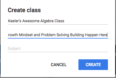 Title a class in Google Classroom