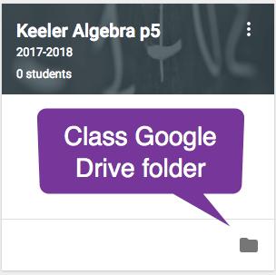 Class Google Drive folder