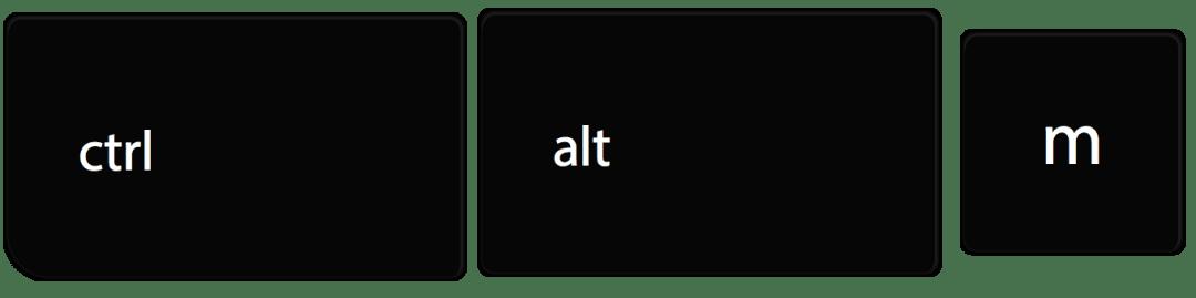 Control Alt M