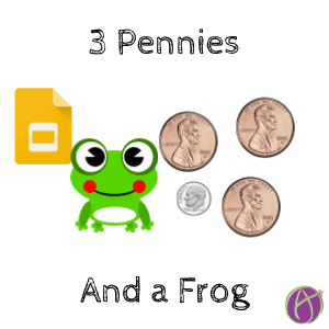 3 lilipads and a frog 3 pennies and a dime math problem