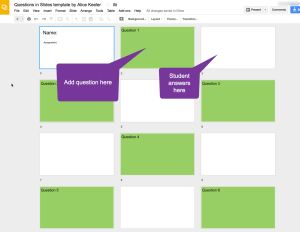 Question and answer in Google Slides