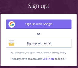 Quizizz sign up