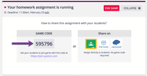 Share the Game Code