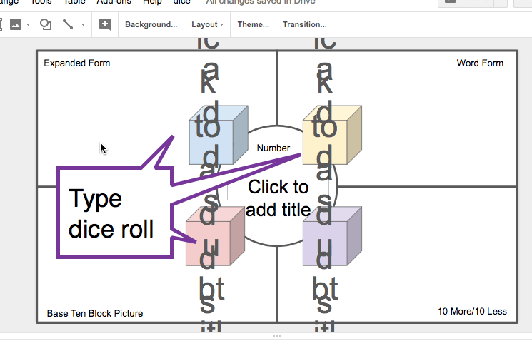 Dice roll placeholder