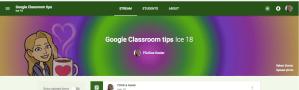 Tie dye your google classroom header