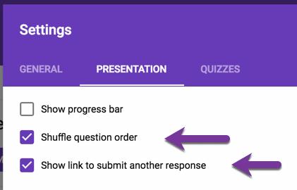 Shuffle Question Order
