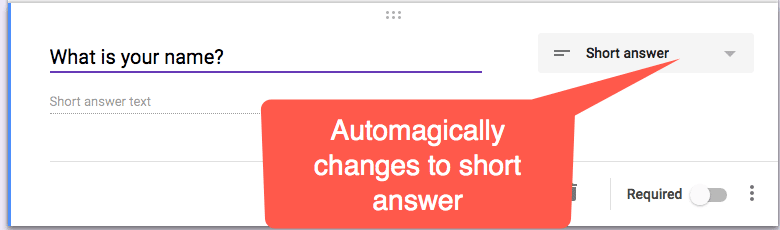 Automagic question type prediction