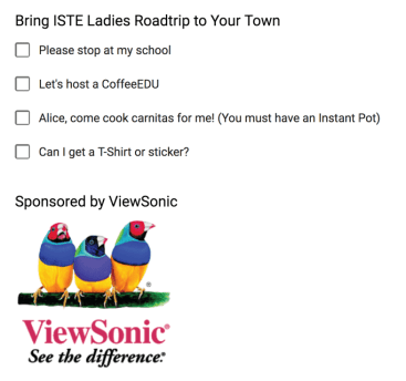ISTE Ladies road trip to your town