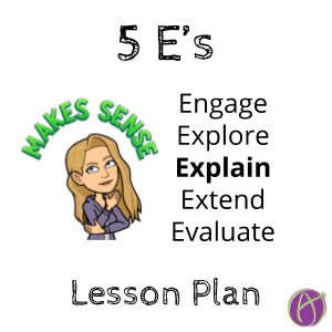 5 E's lesson plan explain comes third