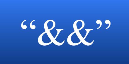 quotation ampersand ampersand quotation