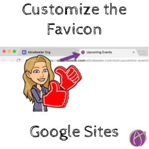 customize favicon google sites alice keeler