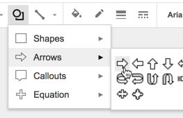 Add shapes to Google Slides