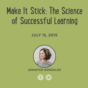 Jennifer Gonzalez make it stick