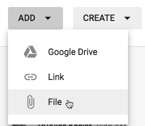 add a file to google classroom