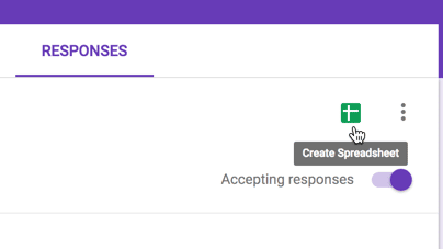 Create Spreadsheet from Google Forms