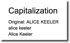 capitalization examples