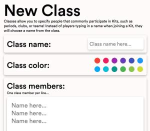 gimkit new class