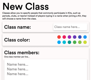 gimkit new class