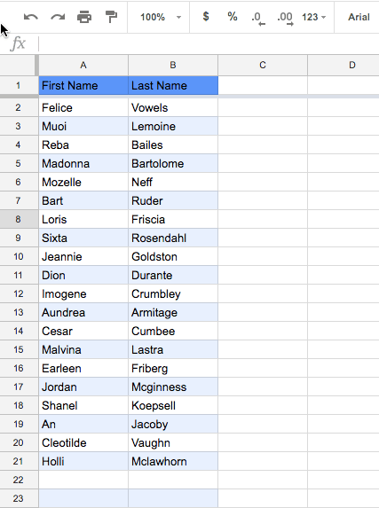 Alternating Colors in Google Sheets