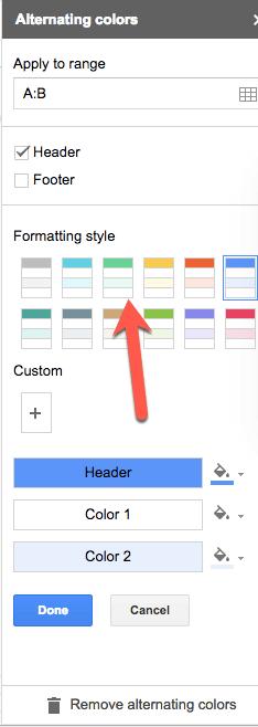 Alternating Colors Side Panel